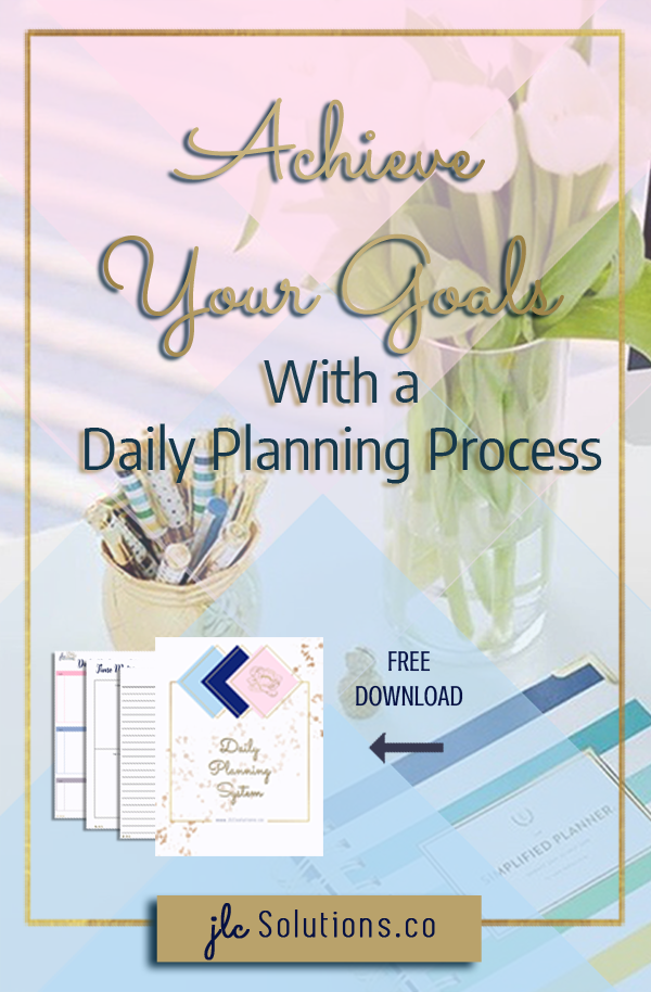 We all have goals in life, both big and small. The thing we don't all have is a process for achieving those goals on a regular basis. That is where a daily planning process comes in. A consistent daily planning habit ensures that you are spending your valuable time and energy moving toward your goals. Daily planning allows you to identify what is most important and to work towards it before everything else.