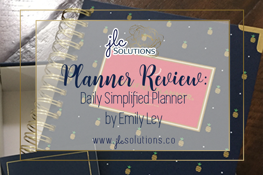 Planner Review: Daily Simplified Planner by Emily Ley ~ JLCsolutions.co