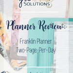 Planner Review: Franklin Planner - Two-Page-Per-Day ~ jlcsolutions.co
