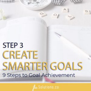 Create SMARTER Goals - Step 3 in 9 Steps to Goal Achievement - https://jlcsolutions.co