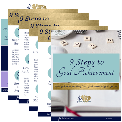 Photo of pages of 9 Steps to Goal Achievement