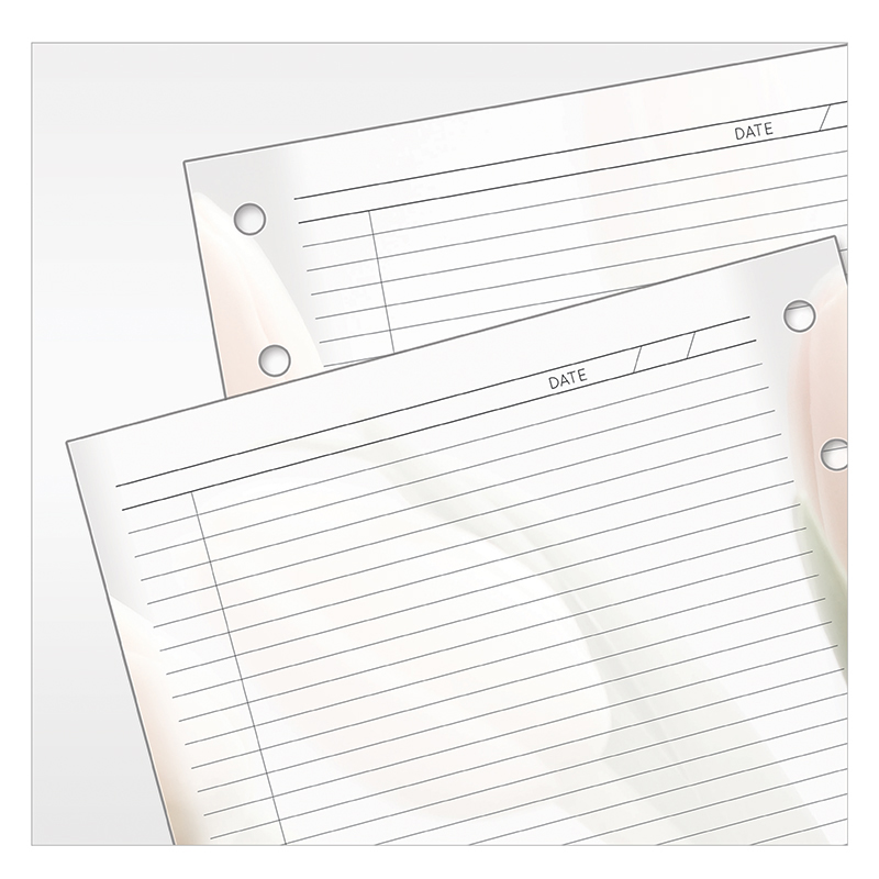 Franklin Planner Blooms cut-away sheets