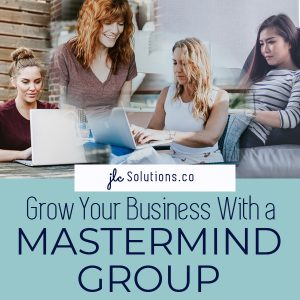 4 women participating in an online mastermind group - How to Grow Your Business With a Mastermind Group